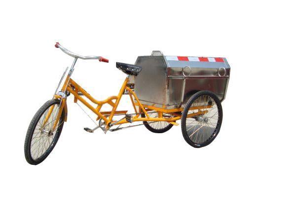 不锈钢三轮清洁车
